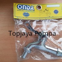 "KRAN AIR CLS 02 / KRAN TAMAN CLS 02 ONDA 1/2"" CHROME"