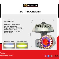 Lampu LASER PROJIE Mini Laser D2 Dual Angel Eye Hi Loo beam