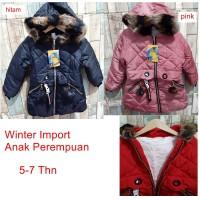 Jaket Anak Cewek Import Mantel Baju Hangat Winter Perempuan 01