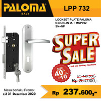 Handle Pintu Plate Kunci Set PALOMA LPP 732 Bergaransi 5 Tahun