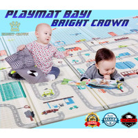 PLAYMAT/PLAYMATE/KARPET BAYI BRIGHT CROWN MOTIF LUCU BEST SELLER - MOT - MOTIF RANDOM, 150 Cm