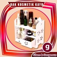 Rak Kosmetik Kayu Kotak WPC Tempat Makeup DS020 Tahan Air Original