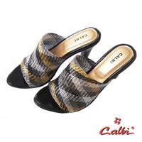 Calbi Sandal Heels Wanita Model Jaring - BBE 110 - Hitam Kombinasi, 39
