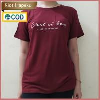 (G01) Kaos Atasan Wanita Import Lengan Pendek/T Shirt Cotton Elastis