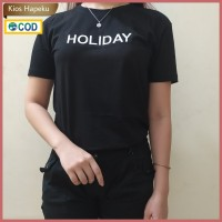 (G09) Kaos Atasan Wanita / T-shirt Polos Import Cotton
