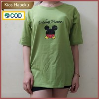 (G11) Atasan Wanita / T-shirt Mickey Full Warna Big Size Import Cotton