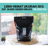 Kopi Espresso Blend Gendis Brazil 5 Kg (Biji/Bubuk)