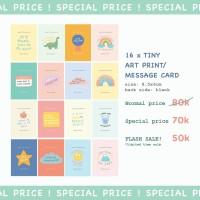 Moon Pancake Cute Tiny Art Print / Message Card Bundle Set