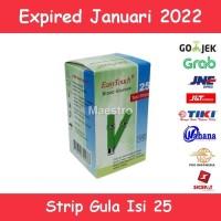 EasyTouch Strip Tes Gula Darah Isi 25 Stik Glukosa Expired ED Panjang