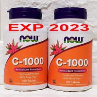 Now Foods Food Vitamin C 1000 mg isi 100 tabs Rose Hips Now Food Vit C