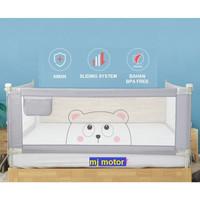 Baby Bedrail Bedguard Safety Pagar Pengaman Pembatas Kasur Bayi Anak