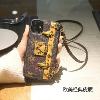 IPHONE 11 PRO MAX SILIKON CASE CASING LV TALI PANJANG IPHONE CHANEL
