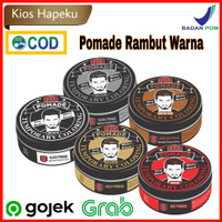 Tata Pomade temporary hair coloring easy wash/water based 75gr - Hitam