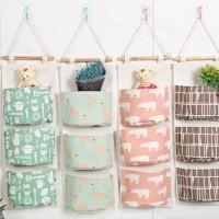 Pouch gantung 3 SEKAT Storage bag gantung 03280 [ 3 SEKAT ] - Pinkbear