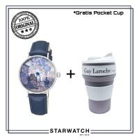 Jam tangan Wanita Guy Laroche Art Watch GA1001SLS-01 Silver-Blue ORI