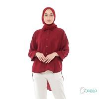 Atasan Muslim Wanita | Oversized Blouse Maroon| Original