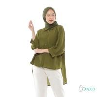 Atasan Muslim Wanita | Oversized Blouse Army | Original