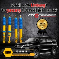 Shock Adjustable 4 Step kelembutan PROFENDER mobil Toyota New Fortuner