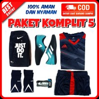 Sepatu futsal nike dan adidas free jersey keren - COPA5, 38