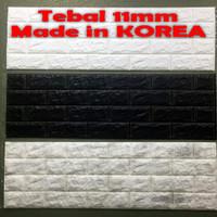 KOREA Wallpaper Dinding 3D Bata 30 x 100 cm Brick Foam Premium