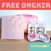 RUMAUMA Baby Pink Set Bundling Pouch Buku Tulis Eye Cover Sticker Lucu