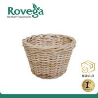 Rovega Keranjang Rotan Mini Round Dust Bin Basket