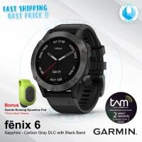 GARMIN Fenix 6 Smartwatch Sapphire Carbon Gray DLC with Black Band