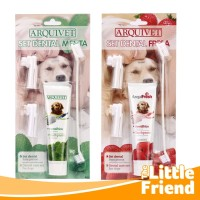 Sikat Pasta Gigi Set Pembersih Karang Gigi dan Bau Mulut Anjing Mint