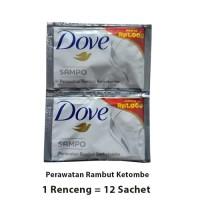 DOVE SHAMPO SACHET 1 RENCENG 12 SACHET