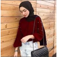 SINA PEARL BLUS Atasan Wanita Blouse Mix mutiara Blouse Muslim Murah