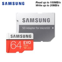 Samsung MicroSD 64GB EVO PLUS 100MB/s Micro SD Card