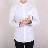 Kemeja Pria Lengan Panjang kemeja Polos Formal Kantoran Putih