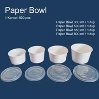 Paper Bowl 360 ml + tutup