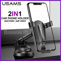 Usams Gravity Phone Holder Car Mount Air Vent Outlet Absorption Mobil