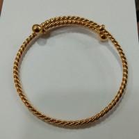 gelang silang lilit 10 gram emas muda