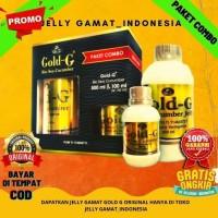 Jelly Gamat Gold-G Paket Combo Obat Herbal Syaraf Kejepit Nyeri otot