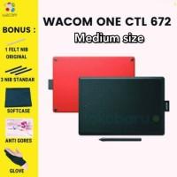 Wacom One Medium CTL-672 pen tablet garansi resmi terjamin