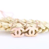 Kalung C Elegant N4 Rose Gold by Aurora Jewelry®