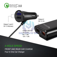 Car Charger 4 Slot 9.6A quick charging