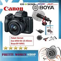 Canon EOS M50 Kit 15-45mm Garansi 1 Tahun Distributor