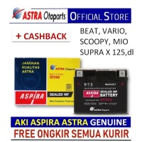 Aki ASPIRA GTZ5S MF(3.5 Ah)-Aki Motor Beat,Mio,Scoopy,Vixion,Xride,dll