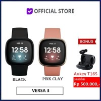 Fitbit Versa 3 Health and Fitness Smartwatch Versa3 Smart Watch - Black