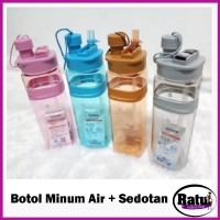 Terlaris Botol Minum Sport - Botol Minum Air With Sedotan Bottle H-725