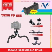 Tripod Mini Takara FP-666 Ballhead Gorillapod plus holder HP