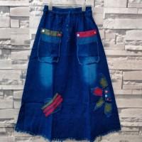 rok jeans panjang anak tanggung usia 10-14thn