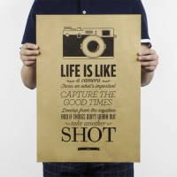 "Poster Dinding Karton / Wall Poster (""Life Is Like a Camera"")"
