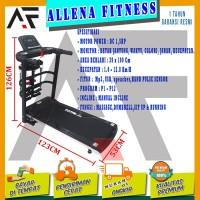 TERMURAH! TOTAL FITNESS Treadmill Elektrik TL 607 Flat Incline
