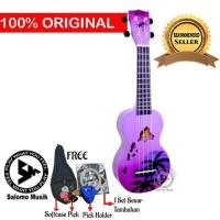 Ukulele Soprano Mahalo Sunset Hawaii Purple Brust MD1HA-PPB + Softcase