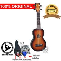 Ukulele Soprano Mahalo MJ1 Varian Warna + Softcase - Tone Sunburst