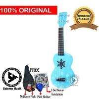 Ukulele Soprano Mahalo Ice Blue Snow Frozen MD1SN-BU + Softcase